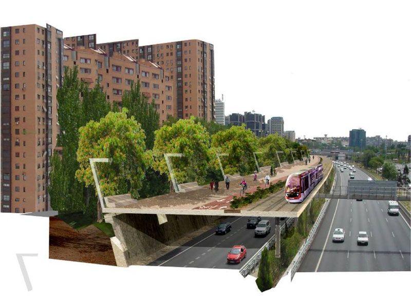 Integración urbana de la M30